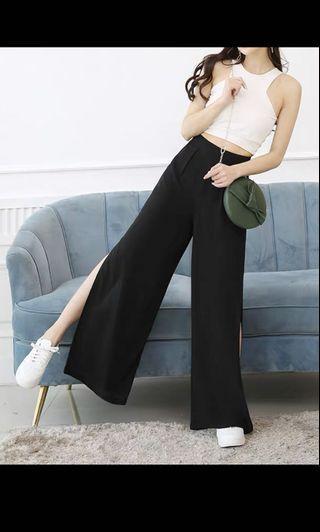black slit culotte