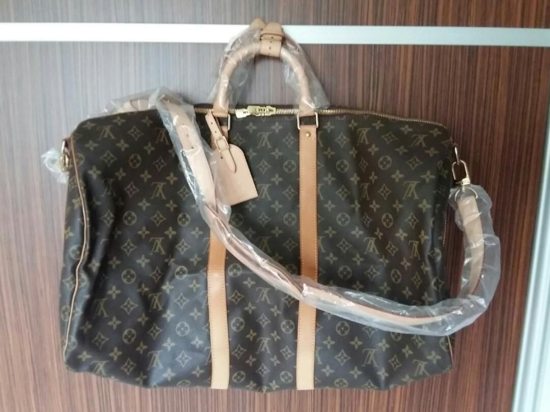 Clear sale $1530 NETT  💯Authentic Louis Vuitton Monogram Canvas Keepall 55 Travel Bag Shoulder Luggage M41414