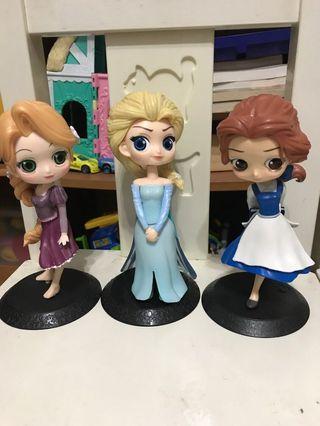 冰雪奇緣Elsa 3隻+野原廣志+灰姑娘