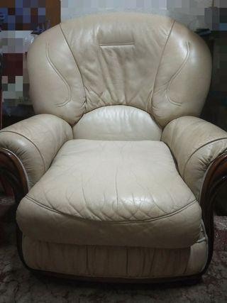 Used real leather sofa chair