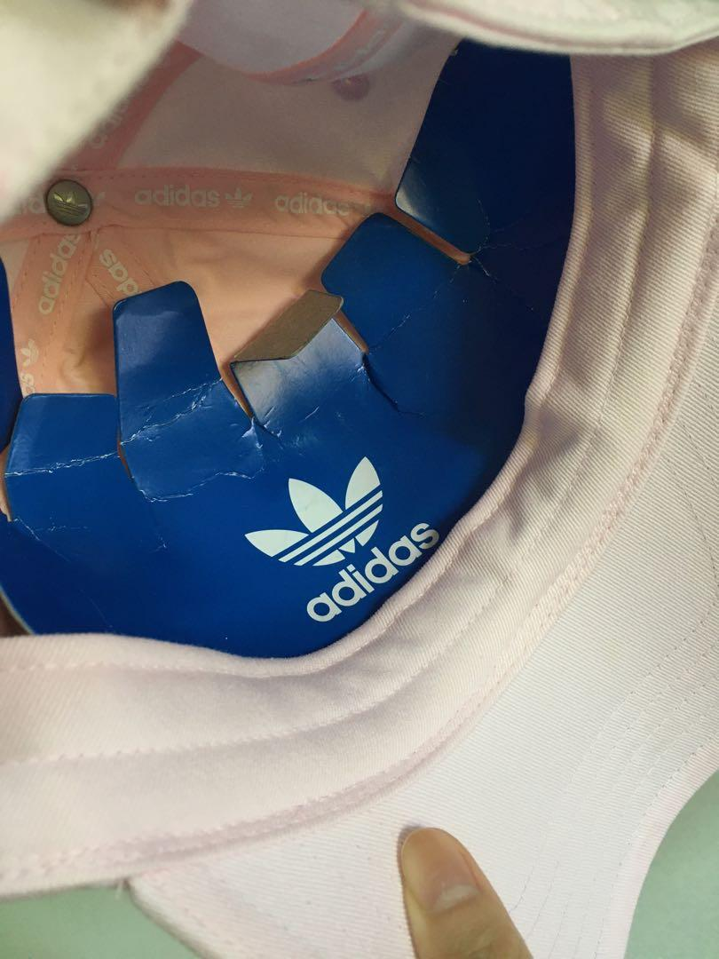 adidas 清新小粉紅可調式棒球鴨舌帽