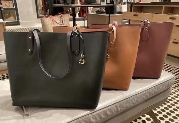 Authentic coach brown shoulder bag 76730 leather made shopping mummy bag