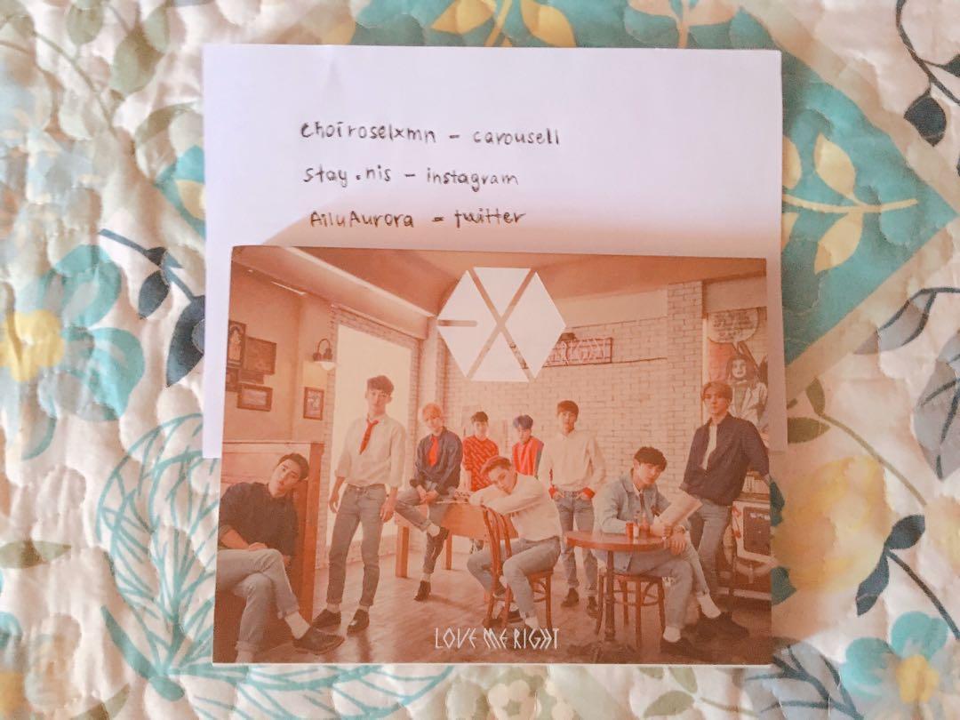 PRICE REDUCED! exo love me right romantic universe japan unsealed album