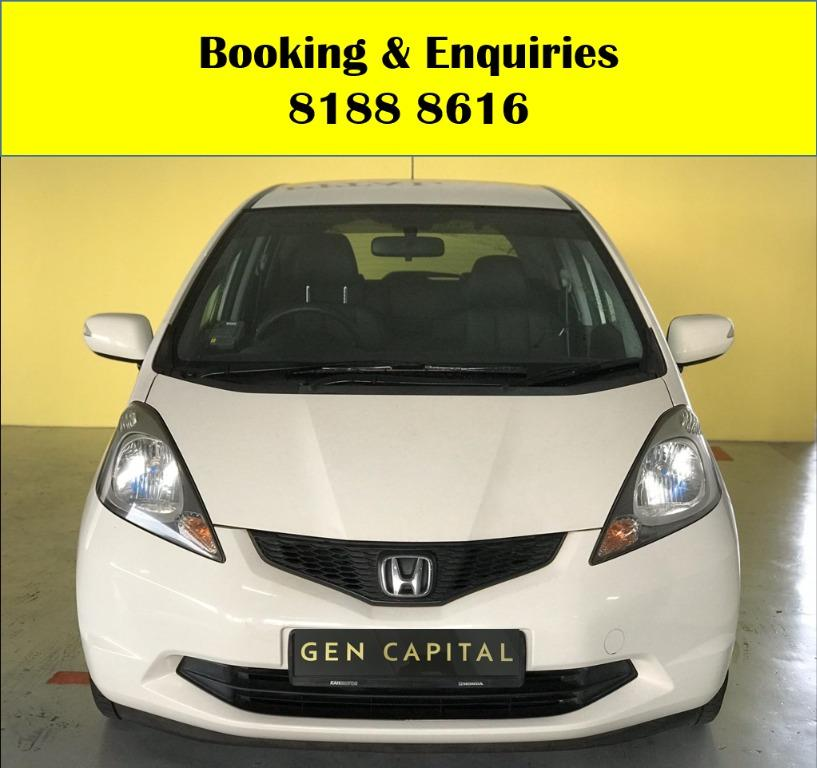 Honda Jazz HAPPY SUNDAY!! Most Reliable & Cheapest Car rental in town with just $500 Deposit driveoff immediately. FREE Petrol Voucher &  FREE rental for new signup contracts. Fuel Eficient & Spacious car. Whatsapp 8188 8616 now to enjoy special rates!!