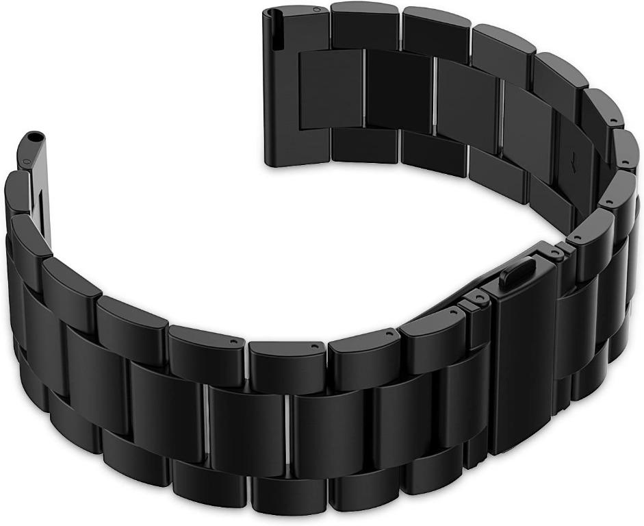 JETech Fitbit Blaze Watch Band, Stainless Steel Band Strap for Fitbit Blaze Smart Fitness Watch - for Both Large and Small Size - Black