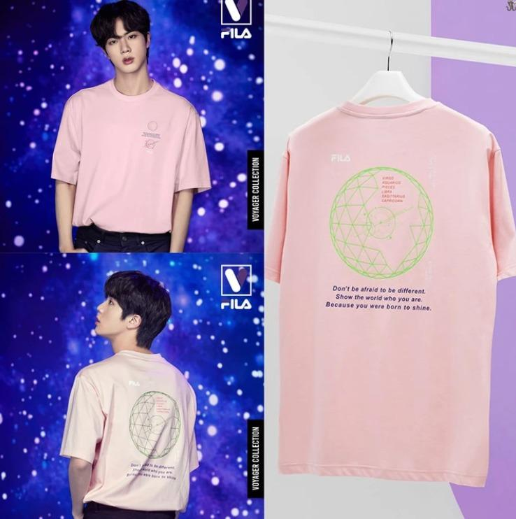 Jin - BTS FILA VOYAGER COLLECTION Loose-fit Graphic Short Sleeve FS2RSC2B01X_EPK