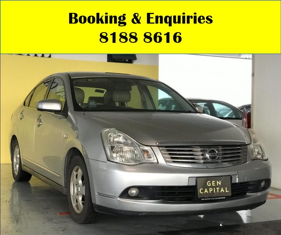 Nissan Sylphy HAPPY SUNDAY!! Most Reliable & Cheapest Car rental in town with just $500 Deposit driveoff immediately. FREE Petrol Voucher & Rental for new signup contracts. Fuel Eficient & Spacious car. Whatsapp 8188 8616 now to enjoy special rates!!