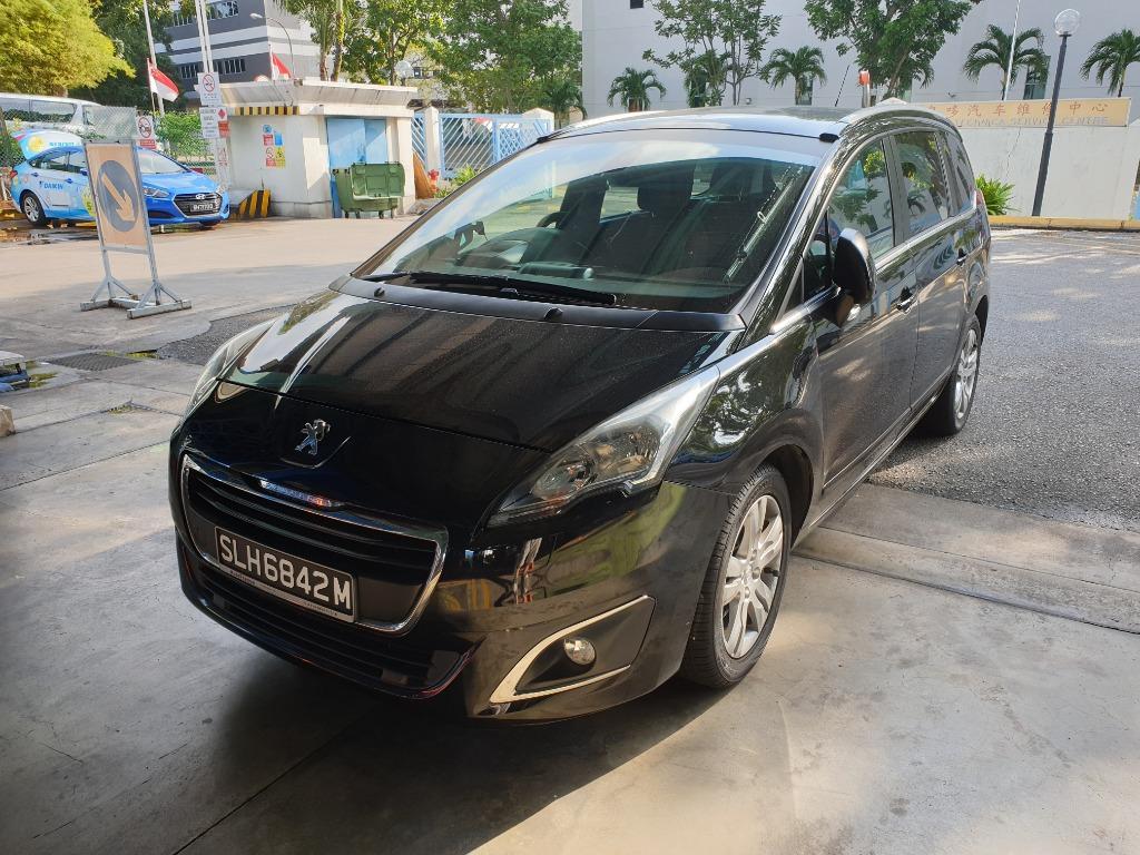 Peugeot 5008 1.6L Diesel MPV for Rent Grab Gojek Private