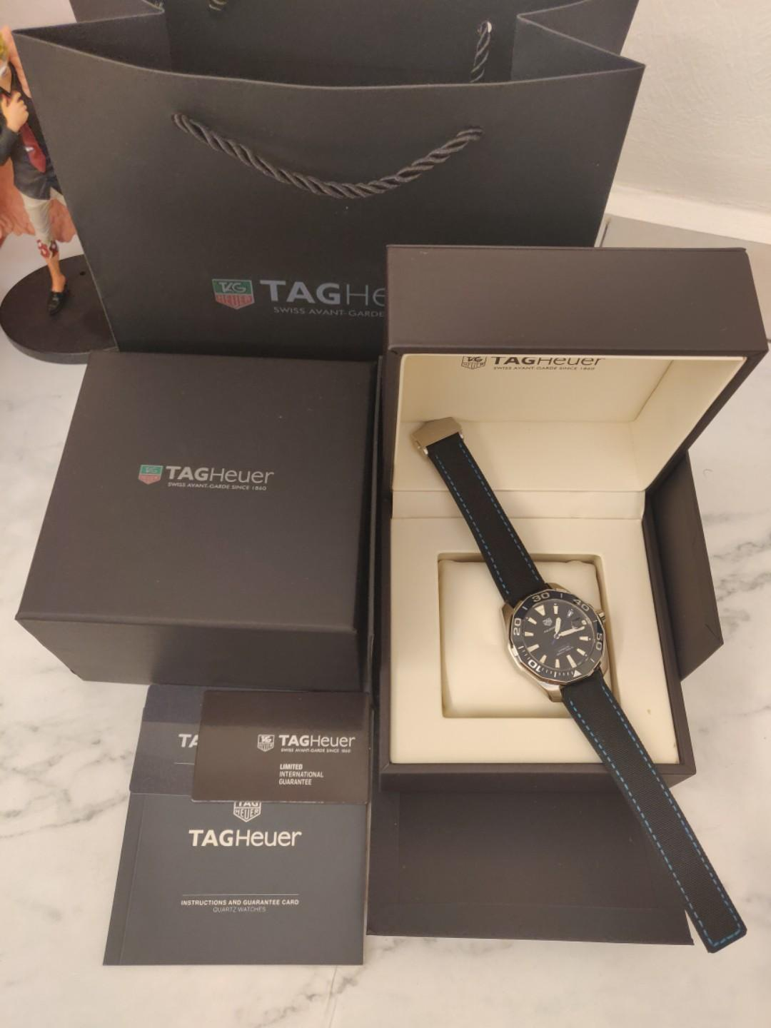 (Ready Stock) Original Ressambled TagHeuer Aquaracer Calibre 5 Black Dial 43mm  WAY201C.FC6395