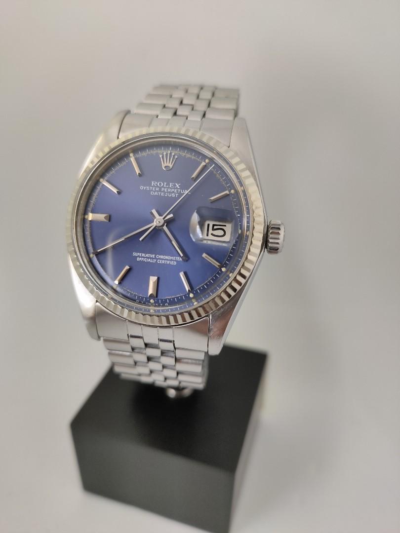 Rolex 1601 Datejust 36mm Jubilee Automatic Blue Sunburst Dial - M Store KL