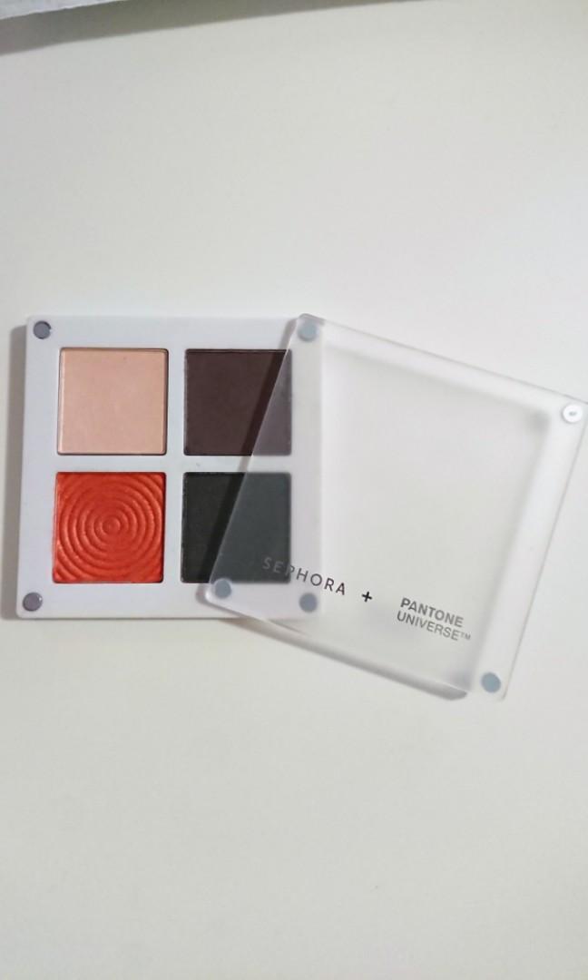 Sephora pantone quad eyeshadow palette limited edition + free gift