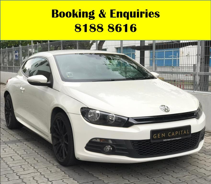 VW Scirocco HAPPY SUNDAY!! Most Reliable & Cheapest Car rental in town with just $500 Deposit driveoff immediately. FREE Petrol Voucher &  FREE rental for new signup contracts. Fuel Eficient & Spacious car. Whatsapp 8188 8616 now to enjoy special rates!!