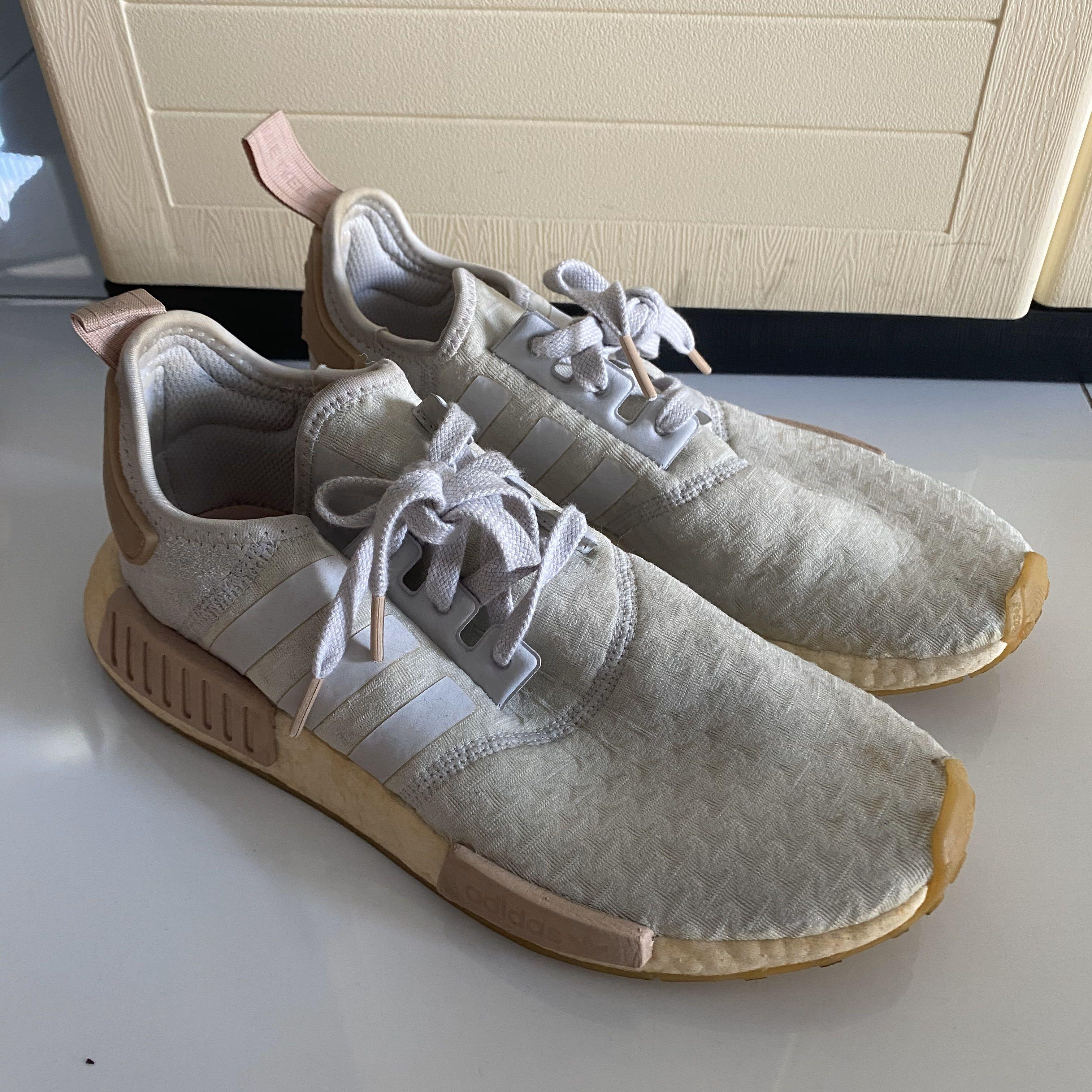Wts Authentic Adidas Nmd R1 Grey Pink Women S Fashion Shoes