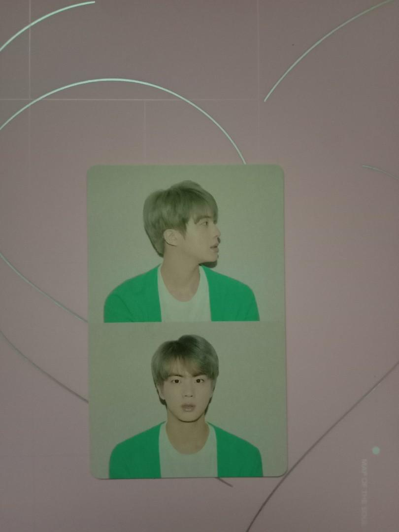 WTS BTS PERSONA WITH JIN PHOTOCARD AND SUGA POSTCARD