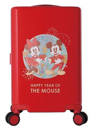 7-11 集點 活動 加購  迪士尼 米奇 米妮 新年 行李箱  新年主題 旅遊精品 品牌 笛森諾 18.5吋 登機箱  附TSA海關鎖  360度萬向靜音飛機輪 雙層防爆拉鍊