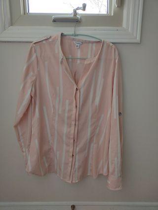 ck pink blouse
