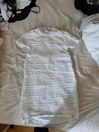 zara knitted  dress