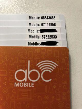 $99 任揀 ABC CSL One2Free電話卡 靚號碼 NUMBER 儲值卡 電話卡 太空卡 上網卡 漫遊卡 IDD卡