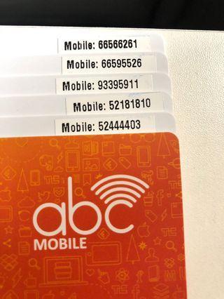$168 任揀 ABC CSL One2Free電話卡 靚號碼 NUMBER 儲值卡 電話卡 太空卡 上網卡 漫遊卡 IDD卡