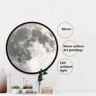 Moon Mirror Lamp月球鏡子燈 #mirror #led #lamp #moon  #鏡 #ii