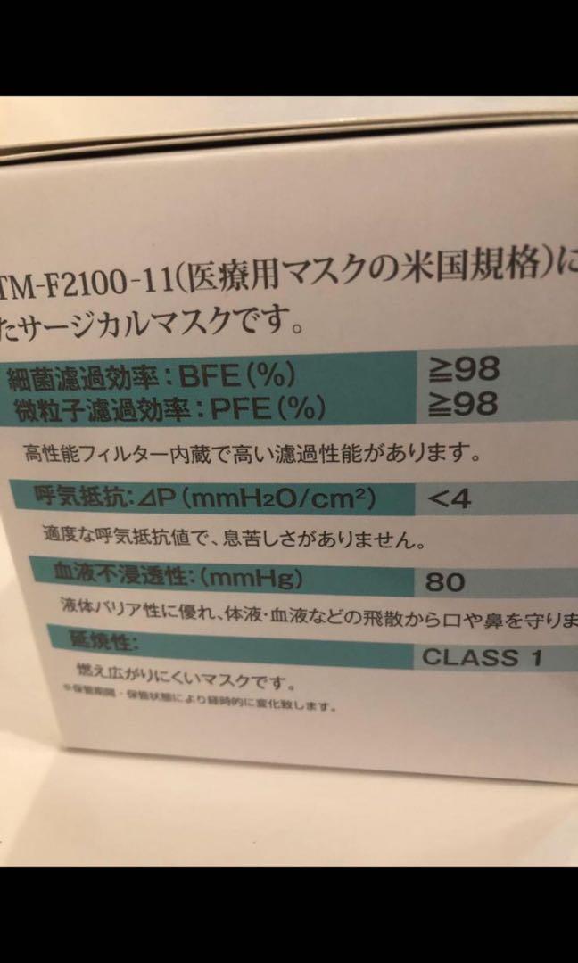 日本口罩50個一盒