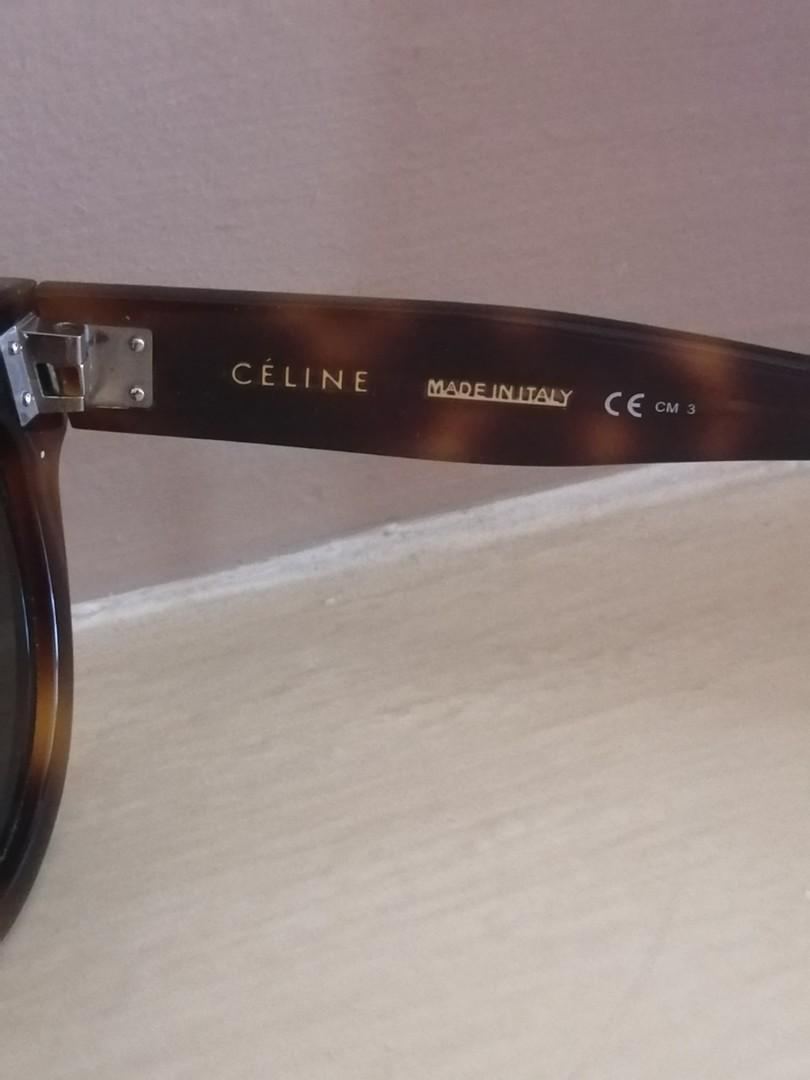 CELINE DION Tortoise Shell Acetate Butterfly Sunglasses