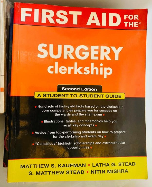 First Aid for the Surgery Clerkship (First Aid Series) 2nd Edition - Cheap Medical Books RUSH