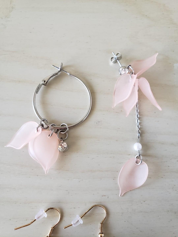BUNDLE Flower Dangle Earrings / Floral Drop Earrings