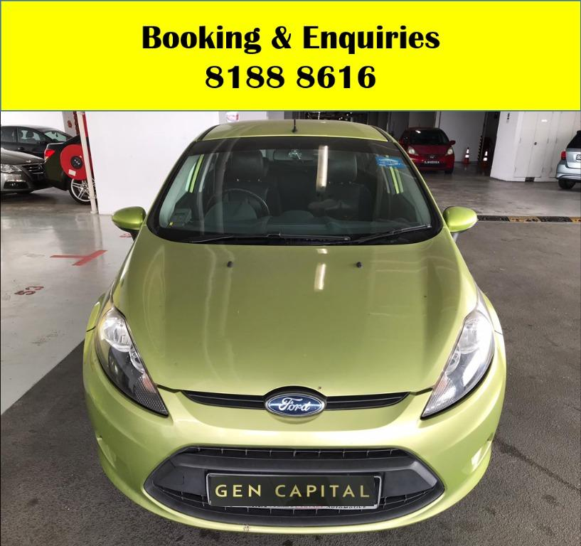 Ford Fiesta HAPPY MONDAY!! JUST IN!! Fuel efficeint, spacious & well maintained! Comes with FREE Petrol Voucher & FREE rental for new contract signup! Just $500 Deposit driveaway immediately! Whatsapp 8188 8616 now to enjoy special rates!!