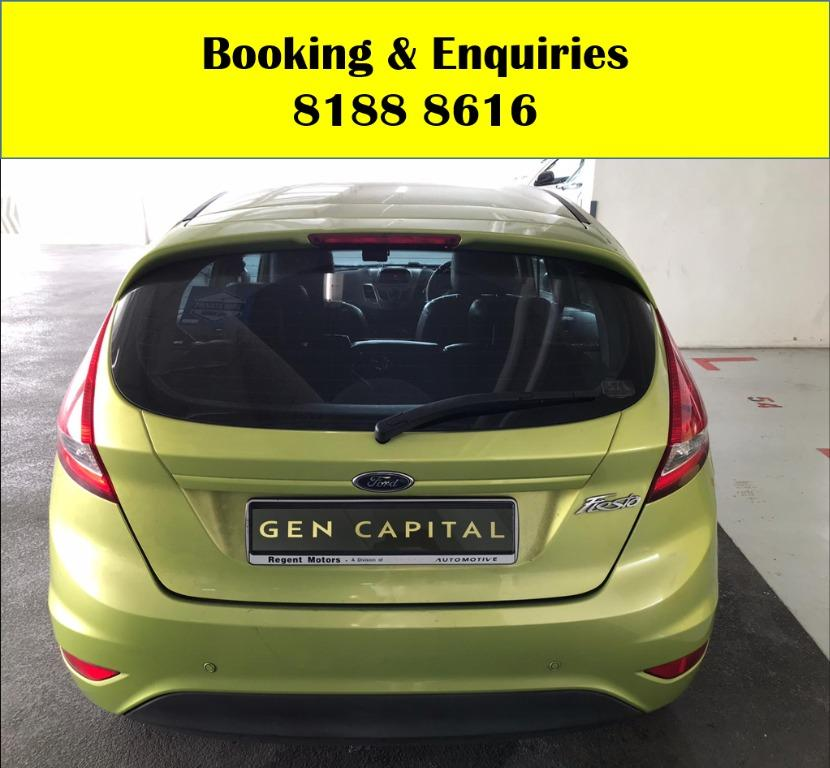 Ford Fiesta HAPPY MONDAY!! JUST IN!! Fuel efficeint, spacious & well maintained! Enjoy FREE Petrol Voucher & FREE rental for new signups! Just $500 Deposit driveaway immediately! Whatsapp 8188 8616 now to enjoy special rates!!