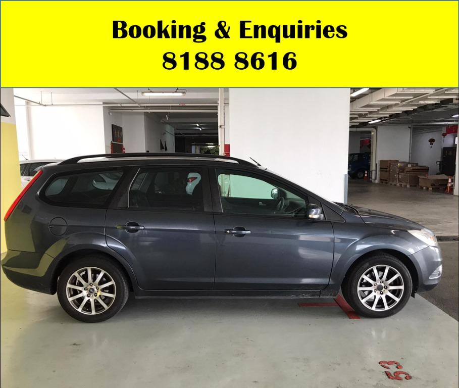 Ford Focus HAPPY MONDAY!! JUST IN!! Fuel efficeint, spacious & well maintained! Comes with FREE Petrol Voucher & FREE rental for new contract signup! Just $500 Deposit driveaway immediately! Whatsapp 8188 8616 now to enjoy special rates!!