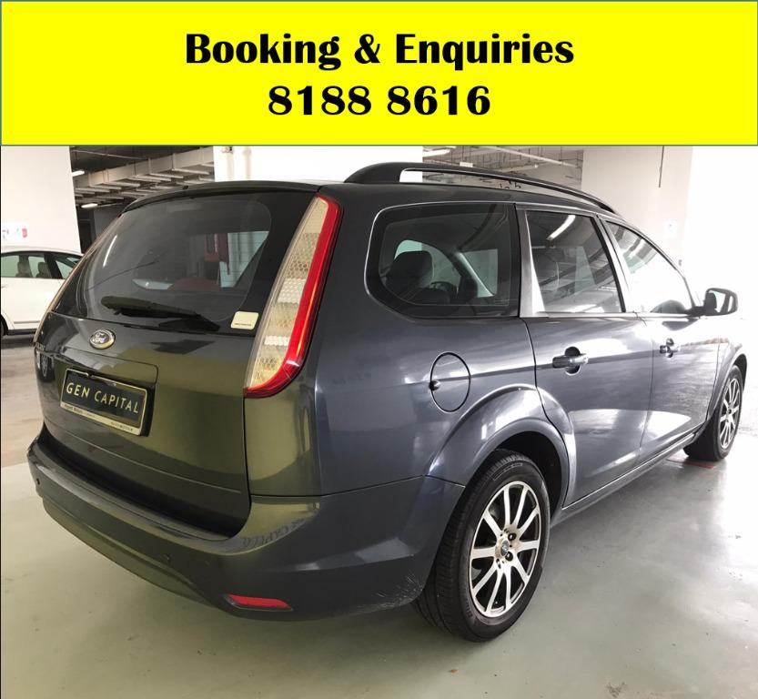 Forf Focus Trend HAPPY MONDAY!! JUST IN!! Fuel efficeint, spacious & well maintained! Enjoy FREE Petrol Voucher & FREE rental for new signups! Just $500 Deposit driveaway immediately! Whatsapp 8188 8616 now to enjoy special rates!!