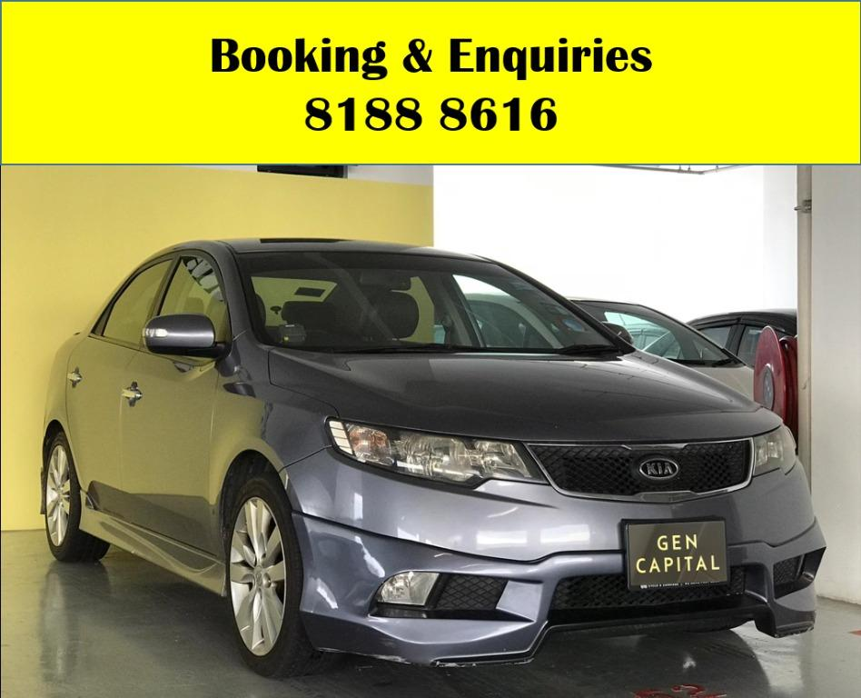 Kia Cerato HAPPY MONDAY!! JUST IN!! Fuel efficeint, spacious & well maintained! Enjoy FREE Petrol Voucher & FREE rental for new signups! Just $500 Deposit driveaway immediately! Whatsapp 8188 8616 now to enjoy special rates!!