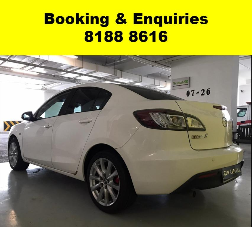 Mazda 3 HAPPY MONDAY!! JUST IN!! Fuel efficeint, spacious & well maintained! Enjoy FREE Petrol Voucher & FREE rental for new signups! Just $500 Deposit driveaway immediately! Whatsapp 8188 8616 now to enjoy special rates!!
