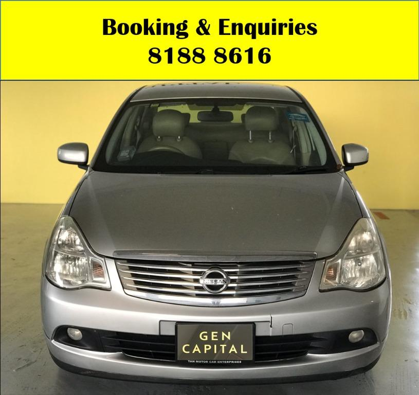 Nissan Sylphy HAPPY MONDAY!! JUST IN!! Fuel efficeint, spacious & well maintained! Enjoy FREE Petrol Voucher & FREE rental for new signups! Just $500 Deposit driveaway immediately! Whatsapp 8188 8616 now to enjoy special rates!!