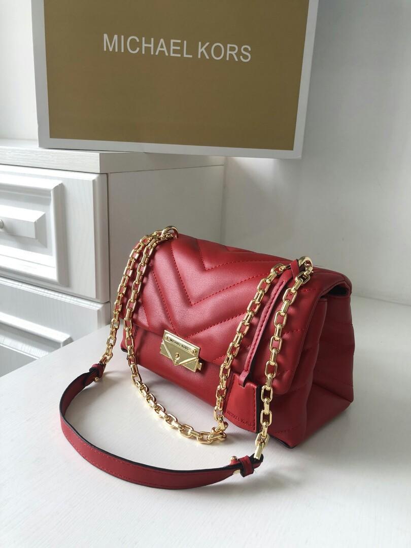 original - MK new sheepskin medium Cece chain fashion trend handbag shoulder diagonal bag shoulder straps can be used across multi color optional number