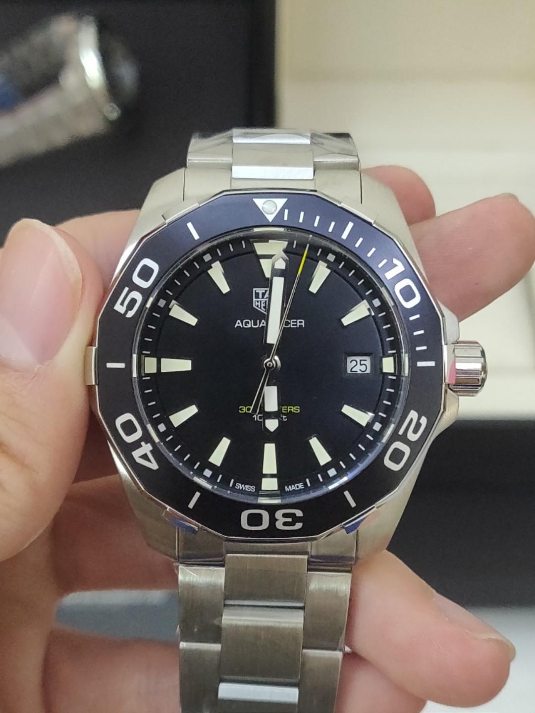 (Ready stock) Original Ressambled TagHeuer Aquaracer 300M Quartz Black Dial 41mm  WAY111A.BA0928
