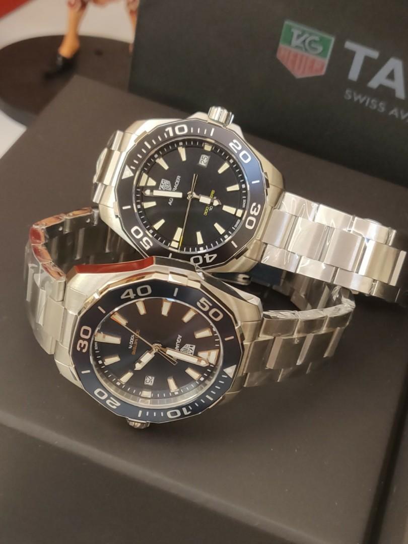 (Ready stock) Original Ressambled TagHeuer Aquaracer 300M Quartz Blue Dial 41mm WAY111C.BA0928