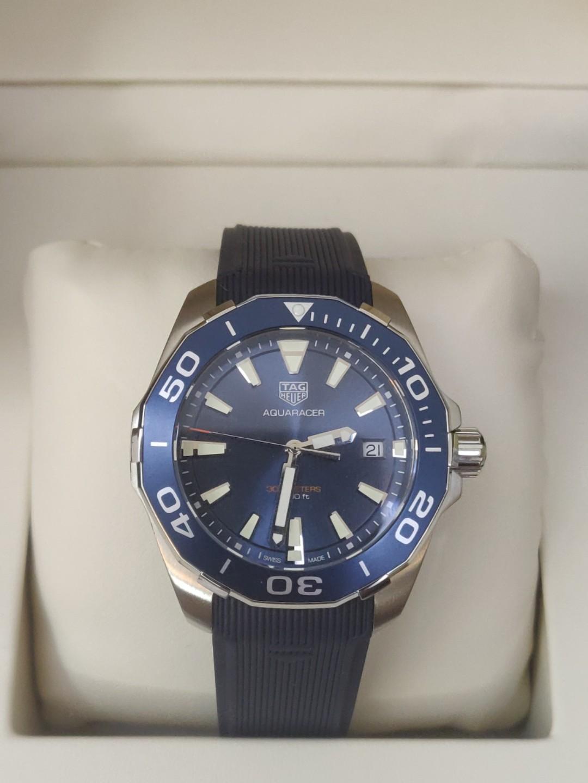 (Ready stock) Original Ressambled TagHeuer Aquaracer 300M Quartz Blue Dial 41mm WAY111C.FT6151