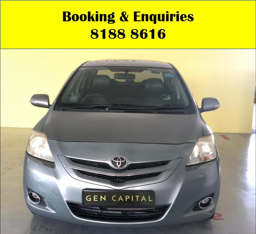 Toyota Vios HAPPY MONDAY!! JUST IN!! Fuel efficeint, spacious & well maintained! Comes with FREE Petrol Voucher & FREE rental for new contract signup! Just $500 Deposit driveaway immediately! Whatsapp 8188 8616 now to enjoy special rates!!
