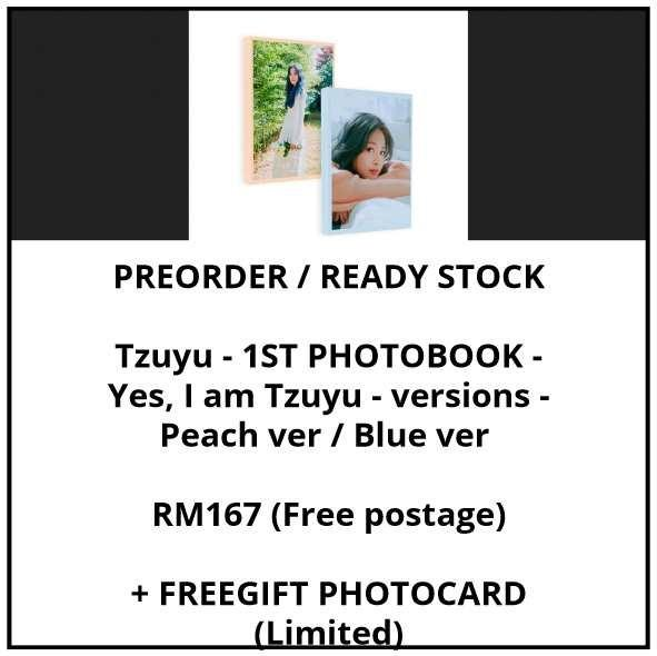 Tzuyu - 1ST PHOTOBOOK - Yes, I am Tzuyu - versions - Peach ver / Blue ver - PREORDER/READY STOCK + FREE GIFT PHOTOCARDS