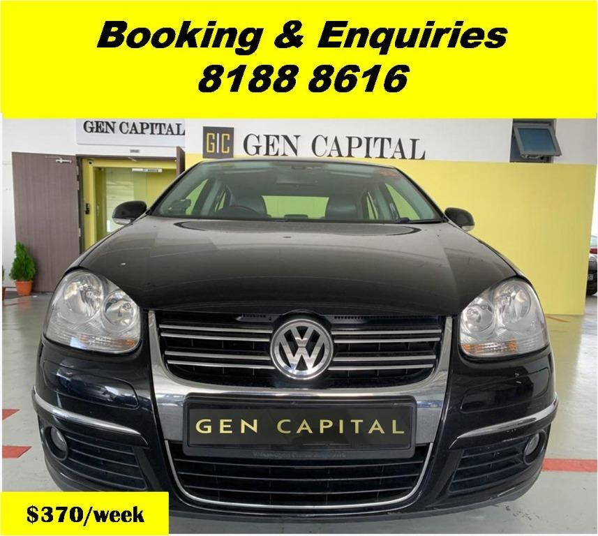 Volkswagen Jetta HAPPY MONDAY!! JUST IN!! Fuel efficeint, spacious & well maintained! Comes with FREE Petrol Voucher & FREE rental for new contract signup! Just $500 Deposit driveaway immediately! Whatsapp 8188 8616 now to enjoy special rates!!