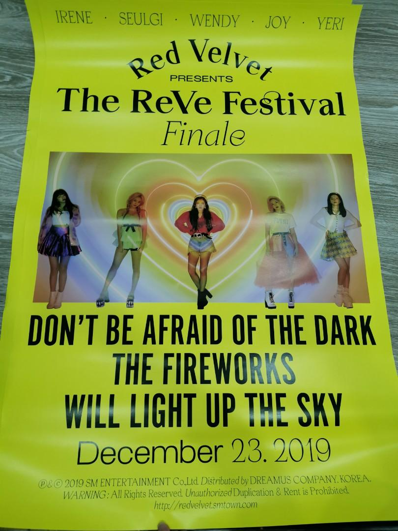 WTS RED VELVET THE REVE FESTIVAL FINALE SCRAPBOOK POSTER
