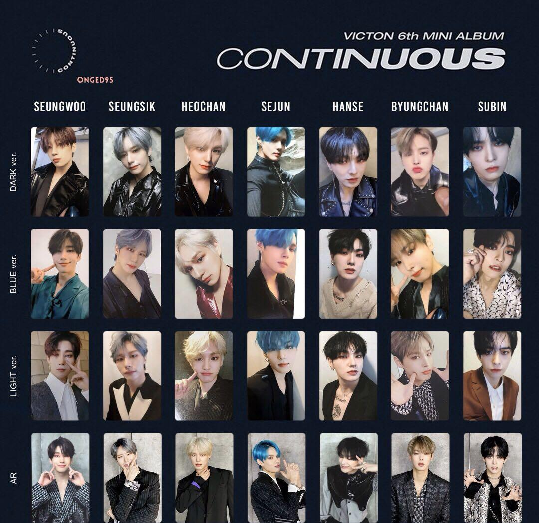 WTS/PREORDER 6TH ALBUM VICTON CONTINUOUS OFFICIAL PHOTOCARD