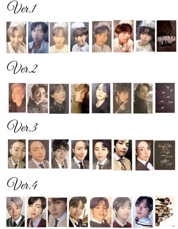 WTS/PREORDER BTS MAP OF THE SOUL 7 OFFICIAL PHOTOCARD