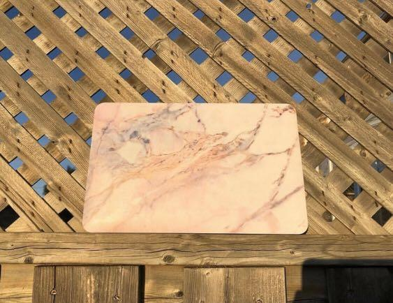 11 inch macbook cases with keyboard cover and screen protector (pink marble and baby blue)