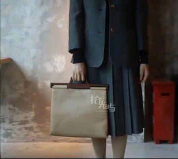 真品Loewe稀有氣質款木柄包可肩背中古Vintage