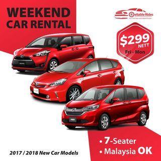 2017 / 2018 Models - Weekend MPV Car Rental