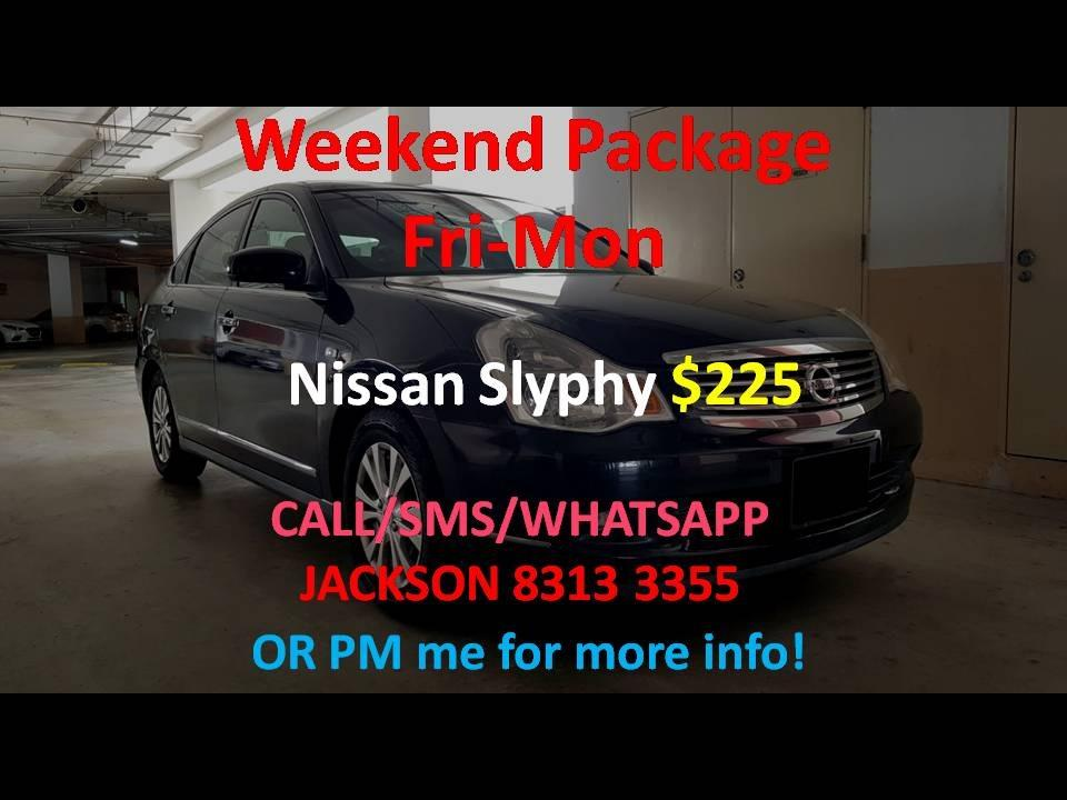 Car Rental Nissan Slyphy Weekend Fri-Mon Package 3 - 6 April ( Yishun )