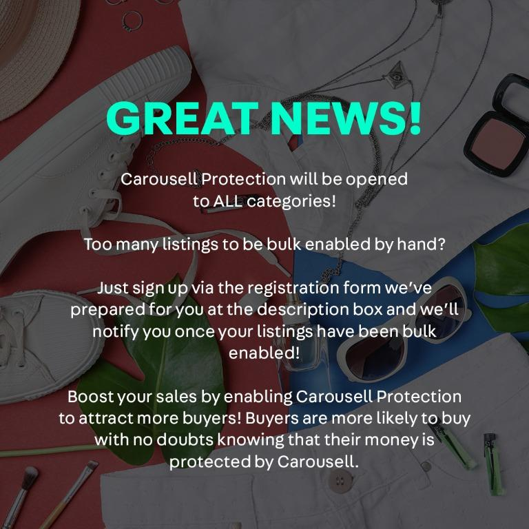 Carousell Protection is now open to ALL Categories!